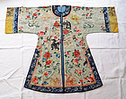 Silk embroidered woman's robe. Qing, 19th cent.