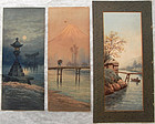 A collection of FIVE watercolours.