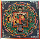 Smaller Mandala thangka with seed-syllables. 19th cent