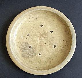 Large, antique Seto ware dish. Edo, 18th cent.