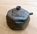 Bizen water dropper for the scholar's table. Signed SEI