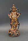 Large bronze image of the Buddhist protector Weituo