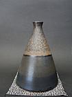 Koji Arata, conical vase in tenmoku-style glaze.