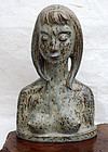 Helge Christoffersen, sculpture of a young woman