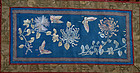 Silk panel, chrysanthemums and butterflies.19th cent.
