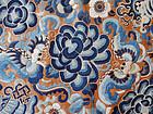 Silk textile: peonies, butterflies & Buddhist symbols