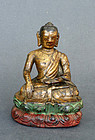 Antique wood image depicting  Sakyamuni Buddha. Early !9th cent
