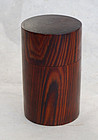 Nice, wood tea container (chaire). Showa