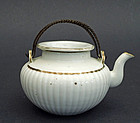 A white porcelain tea pot. Daoguang mark & period