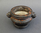 An antique stone censer / incense burner. Qing, 19th cent.