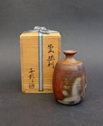 Bizen tokkuri, sake bottle by NAKAMURA Shinichiro
