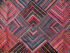 A great, vintage hand woven wollen textile in geometric patterns.