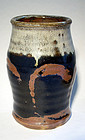 Small cylindrical vase by Hamada Shoji
