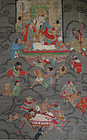 Buddhist painting depicting scene from Tribunal of the Netherwold