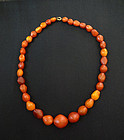 Antique Excellent Quality Danish Amber Necklace. 31 grams