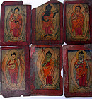 "A collection of 35 Buddhist & Bön ritual cards ""tsagli"""
