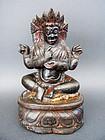 Four Arms seated MAHAKALA, Protector of the Dharma