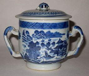 Chinese Export Canton Sugar Bowl - 19th C.
