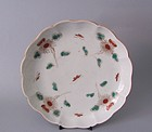 Ko Imari Moth and Chrysanthemum Dish c.1750-80