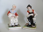 Pair Staffordshire Figures of Jobson and Nell Mid 19C