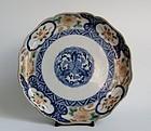 Ko Imari Somenishikide Scalloped Dish c.1740-60