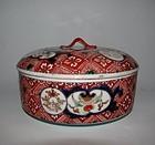 Fine Ko imari �Hare� pattern Round Covered Box 18C