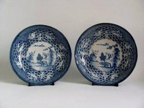 Fine Pair of Ko Imari San Koi and So Shin Bowls c.1780