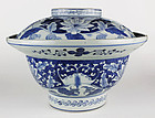 Huge Arita Bowl with Lid - c. 1820-1850
