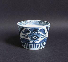 Ko Imari Karahanamon Soba Choku c.1760-80