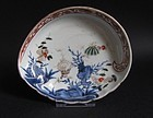 Ko Imari Marine subject Abalone Shaped Dish c.1750