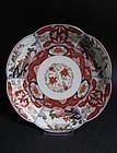 Ko Imari Lotus mon Lobed Dish c.1700