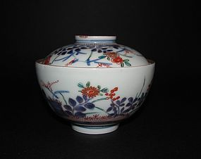 Imari �Johanneum� Autumn flowers and Banded Hedge Covered Bowl c.1700