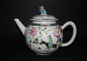 Chinese �Li Bai� Famille Rose Teapot, Yongzheng