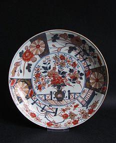 Imari Export Vase on Veranda Dish c.1720