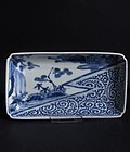 Ko Imari Landscape and Octopus Scroll Nagazara c.1750 No 2