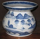 Canton Chinese  Export Large Spittoon No 1