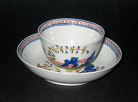 Keeling English Teabowl and Saucer - c. 1790