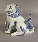 A Large Arita Shishi Lion - Meiji or Taisho Period