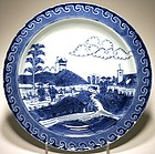 Chinese Export  Deshima Island Plate - 18th C.