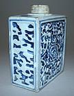 Unusual Molded Kangxi Period Tea Caddy