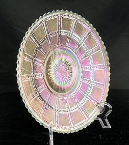 Imperial Beaded Block Yellow Carnival Round Plate