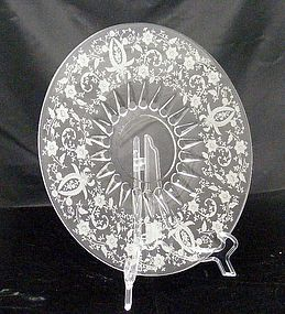 New Martinsville Radiant Prelude Serving Plate Tray