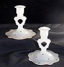 Beaumont Fer Lux Keyhole Opaque Enamel Candlesticks