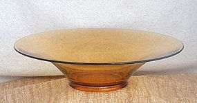 Cambridge Amber Broad Rim Centerpiece Bowl ~Marked