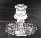 Heisey Orchid Single Candlestick with Label