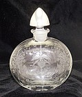 Heisey Orchid Silver Stopper Crystal Decanter