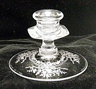 Fostoria June Crystal Clear Single Light Candlestick