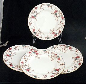 Minton Ancestral Enamel and Bone China Dessert Plates