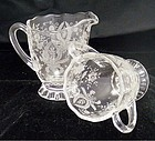 Cambridge Crystal Creamer & Sugar with Etch