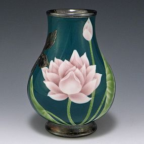 SHOFU KATEI Shreve & Co Sterling Silver Japanese Vase
